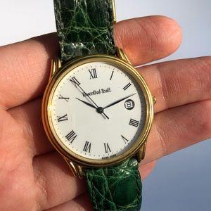 Vintage crocodile strap watch